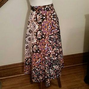 Sunshine Joy Indian Print Wrap Skirt